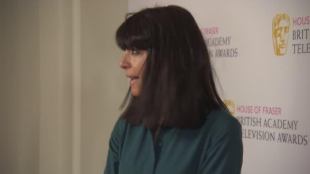 claudia winkleman at bafta nominees party at corinthia hotel london on april 22, 2015 in london, england. - クラウディア ウィンクルマン点の映像素材/bロール