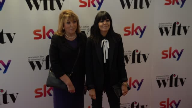 claudia winkleman attends the women in film and tv awards 2019 at hilton park lane on december 06 2019 in london england - steve coogan stock videos & royalty-free footage