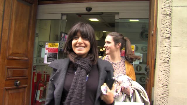 claudia winkleman leaves after appearing as a guest claudia winkleman at bbc radio one studios on march 17, 2011 in london, england - bbc radio stock videos & royalty-free footage