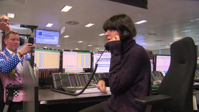 claudia winkleman on september 11, 2018 in london, england. - クラウディア ウィンクルマン点の映像素材/bロール