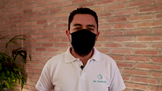 claudio maffezzolli junior founder of the startup 'doutor conecta' during an interview in which he talks about how the platform connects the doctor... - doutor stock videos & royalty-free footage