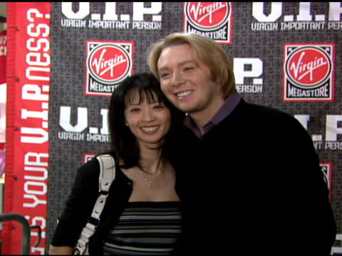Clay Aiken and VIP Winner at the Clay Aiken Signs Copies of His New Album 'On My Way Here' at Virgin Megastore in New York New York on May 6 2008