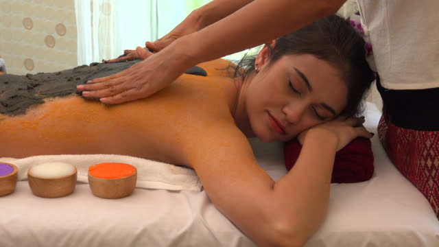 clay mark in spa - massager stock videos and b-roll footage