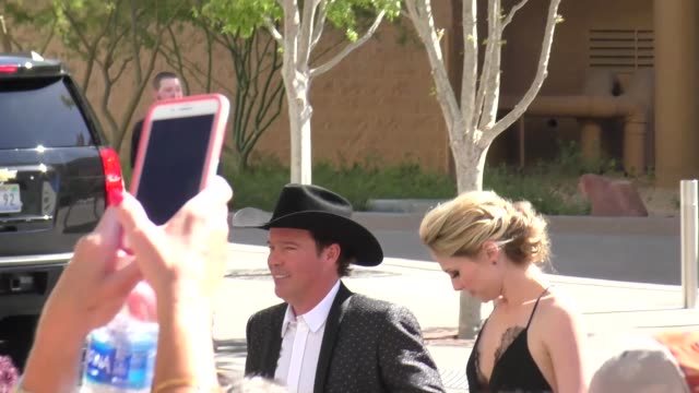 clay walker arriving to the 52nd academy of country music awards in celebrity sightings in las vegas - academy of country music awards stock videos & royalty-free footage
