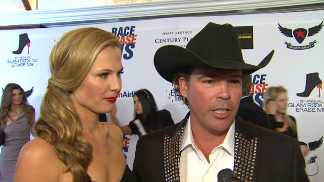 clay walker on being a part of the night at 19th annual race to erase ms glam rock to erase ms on 5/18/12 in los angeles ca - race to erase ms stock videos and b-roll footage