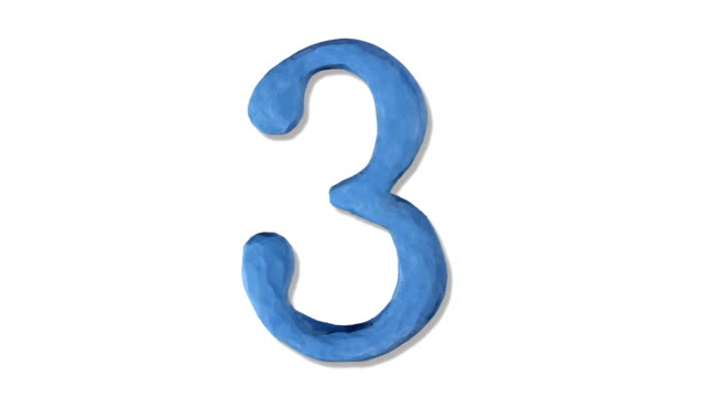 claynumber3 - number 3 stock videos & royalty-free footage