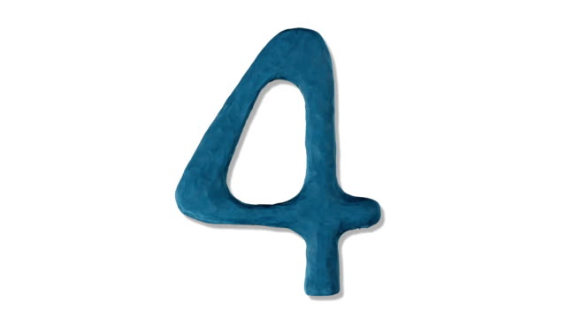 claynumber4 - number 4 stock videos & royalty-free footage