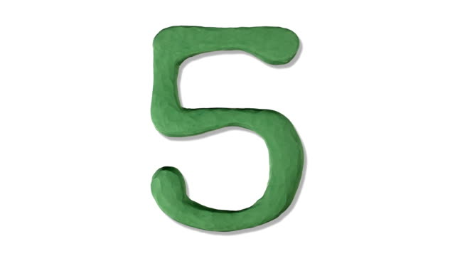 claynumber5 - number 5 stock videos & royalty-free footage
