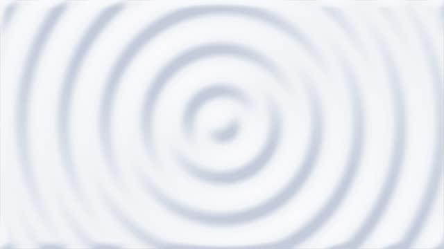 animazione 3d pulita e morbida di modello astratto bianco di increspature video stock 4k - misurare il polso video stock e b–roll