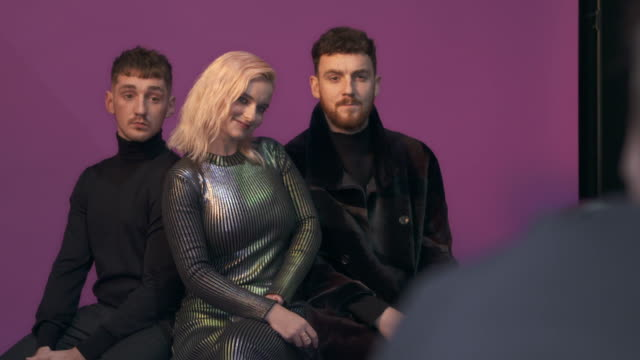 clean bandits poses in the studio during the mtv emas 2017 held at the sse arena, wembley on november 12, 2017 in london, england. - wembley arena stock videos & royalty-free footage