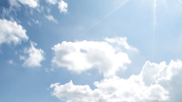 Clean cloud, blue sky