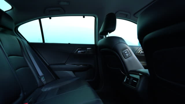 clean console modern car, black indoor design - leather stock videos and b-roll footage