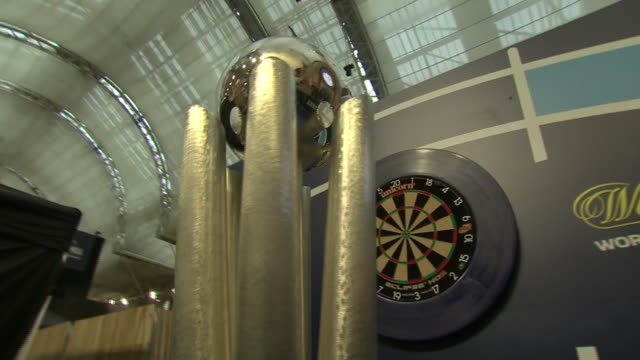 interior shots of the world darts championship trophy at alexandra palace on the 13th december 2019 in london england - world sports championship stock videos & royalty-free footage