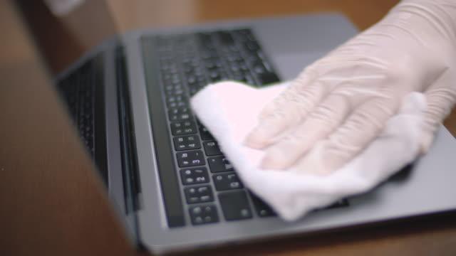 stockvideo's en b-roll-footage met schone laptop - clip kantoorartikel