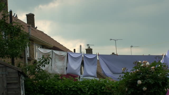 clean laundry - washing line stock videos & royalty-free footage