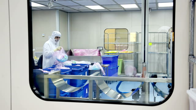 clean room in laboratory - clean room stock videos and b-roll footage