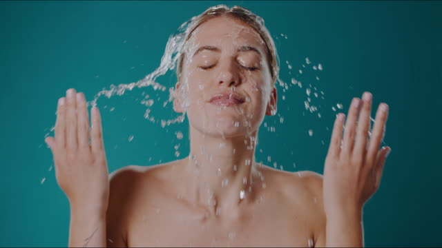 clean water is all it takes - skin care stock videos & royalty-free footage
