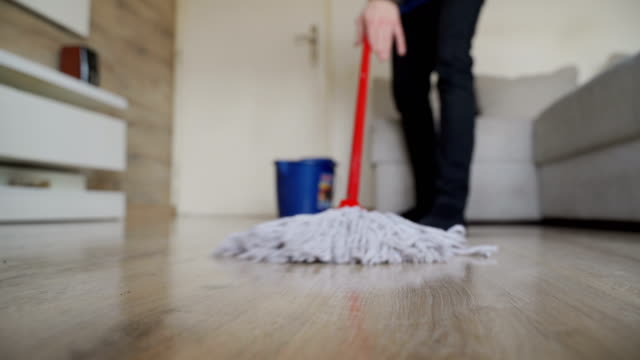 cleaning a floor-close up - flooring stock videos & royalty-free footage