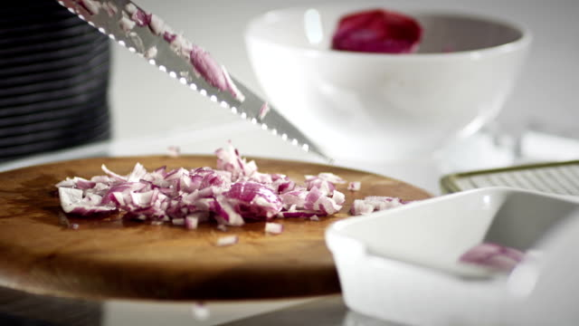 cleaning a knife - red onion stock videos & royalty-free footage
