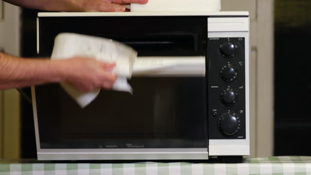 cleaning combi oven. - microwave stock videos & royalty-free footage