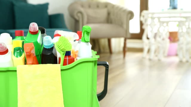 vídeos y material grabado en eventos de stock de equipos de limpieza - resolución 4k - higiene