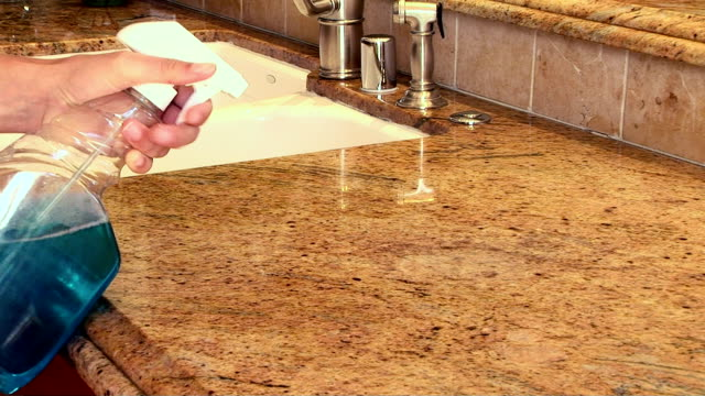 Cleaning kitchen counter