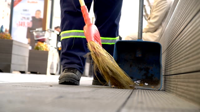 cleaning street - garbage stock videos & royalty-free footage