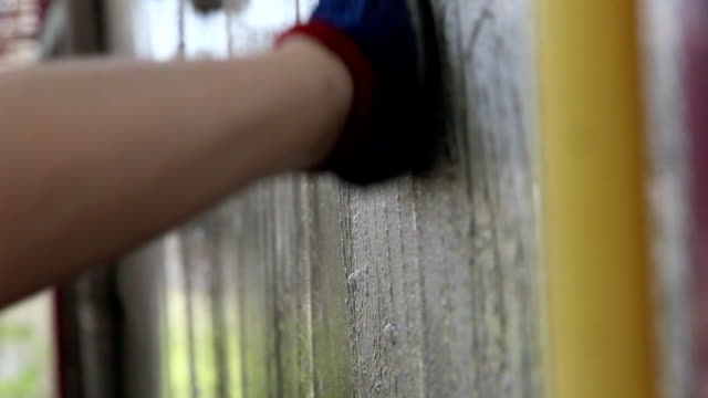 cleaning the wall - washing up glove stock videos & royalty-free footage