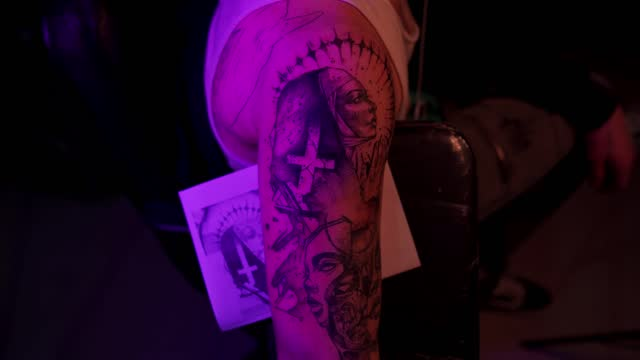 cleaning this masterpiece tattoo - nun stock videos & royalty-free footage