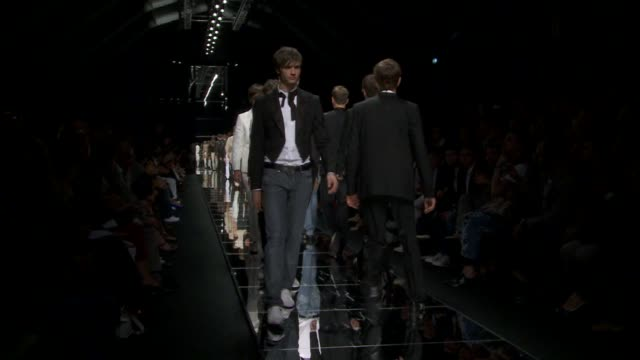 milan men's fashion week s/s 2011 - week stock videos and b-roll footage