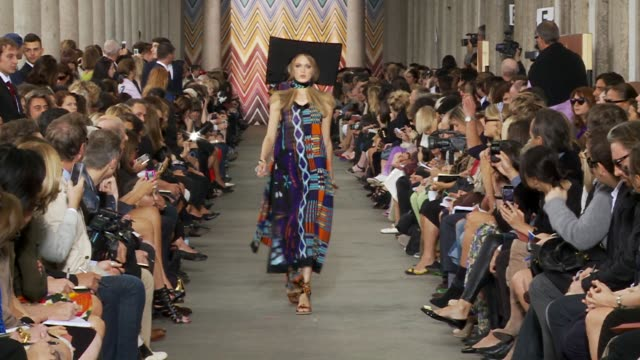 milan fashion week womanswear s/s 2011 - missoni stock videos & royalty-free footage