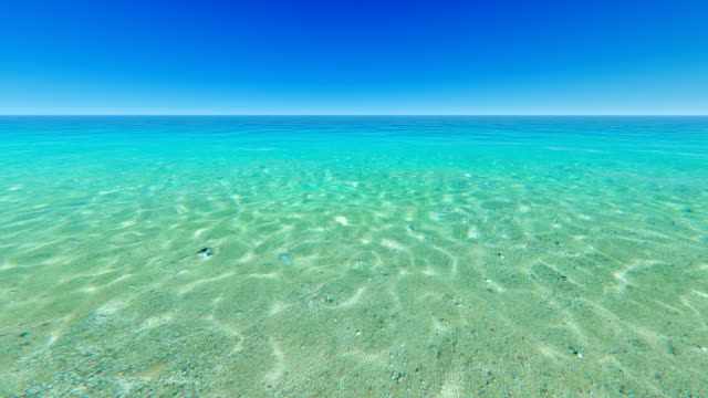 clear blue sky over tropical ocean - horizon over water stock videos & royalty-free footage