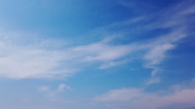 clear blue sky with cloud scape - moody sky stock videos & royalty-free footage