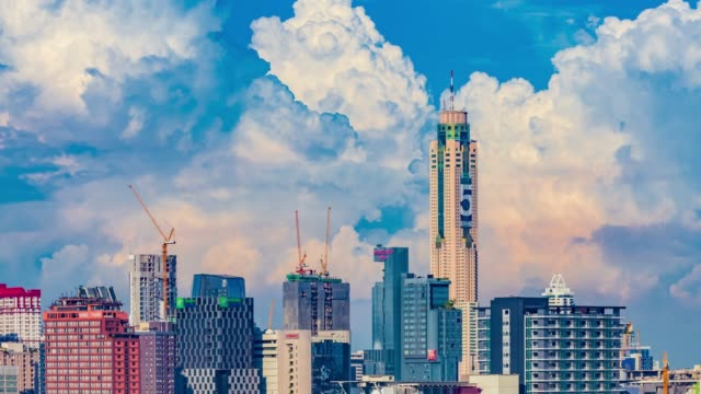clear blue sky with cloud scape - temple building stock videos & royalty-free footage