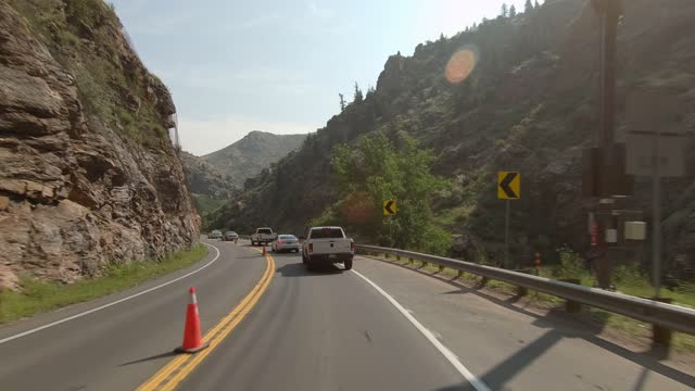 clear creek canyon 4 synced series front summer driving - number 4 stock videos & royalty-free footage