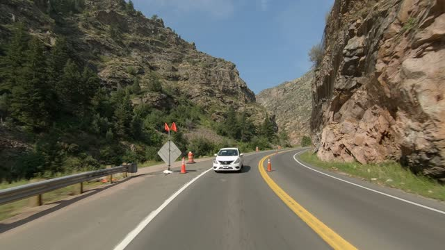 clear creek canyon 4 synced series rear summer driving - number 4 stock videos & royalty-free footage