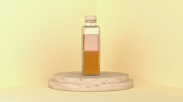clear hexagon honey bottle 3d rendering motion - single object stock videos & royalty-free footage