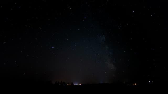 Clear night sky, timelapse