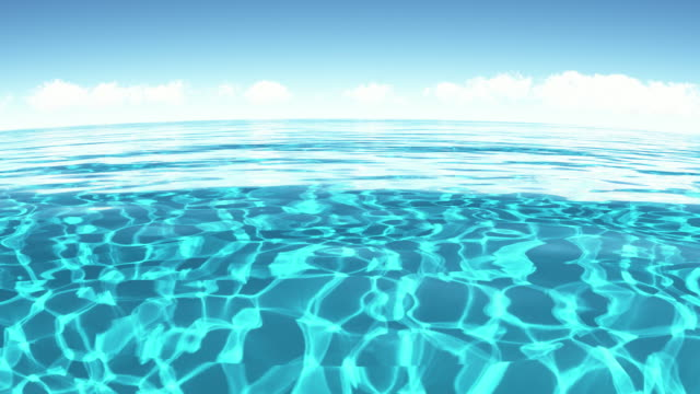 clear sea water.loop - double refraction stock videos & royalty-free footage