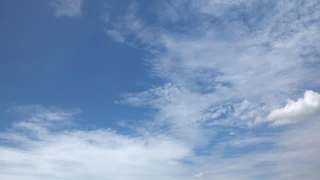 vidéos et rushes de ciel clair avec le nuage - vue en contre plongée