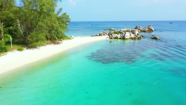 clear waters and clear skies are the ultimate combo - malaysia stock videos & royalty-free footage