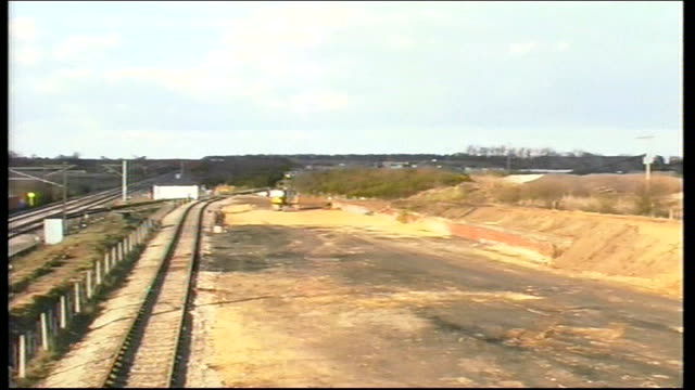 cleared track at site of selby train crash england yorks selby ext general views of site of selby train crash with cleared track pan r13030101 - train crash stock videos and b-roll footage