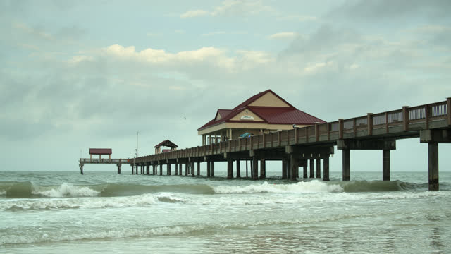 clearwater beach before the crowds - gulf of mexico stock videos & royalty-free footage