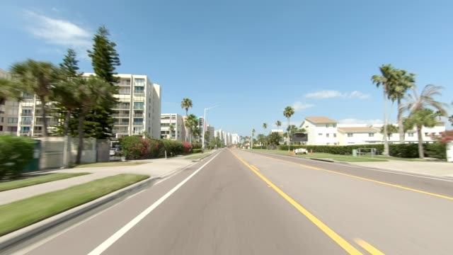 clearwater beach ix synced series rear view driving process plate - part of a series stock videos & royalty-free footage