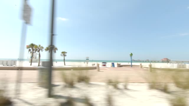 clearwater beach vi synced series right view driving process plate - coastal feature stock videos & royalty-free footage