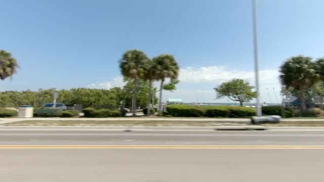 clearwater beach viii synced series left view driving process plate - driving plate stock videos & royalty-free footage