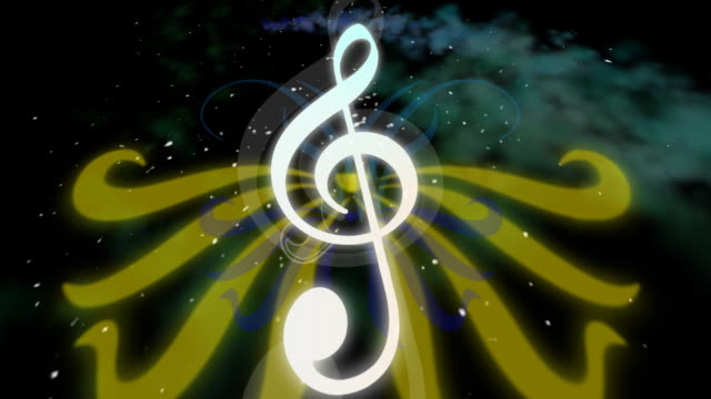 clef animated symbol - treble clef stock videos & royalty-free footage