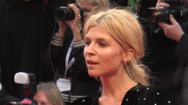 clemence poesy on the red carpet for the premiere of a star is born at the venice film festival 2018 venice italy on friday august 31 2018 - フォトコール点の映像素材/bロール