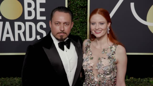 Clemens Hallmann and Barbara Meier at the 75th Annual Golden Globe Awards at The Beverly Hilton Hotel on January 07 2018 in Beverly Hills California
