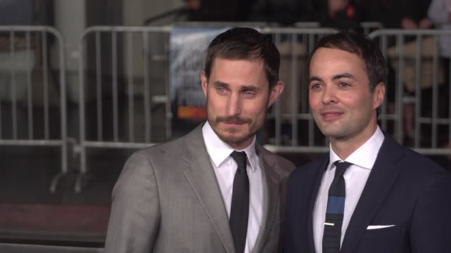 Clemens Schick and Nikolai Kinski at the Point Break Los Angeles Premiere at TCL Chinese Theatre on December 15 2015 in Hollywood California